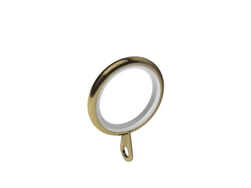 Swish Elements 19mm Metal Curtain Rings - Antique Brass